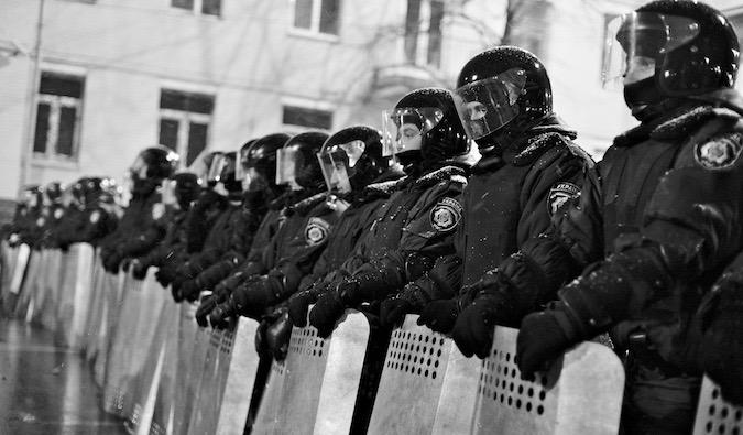 riot police in Erope