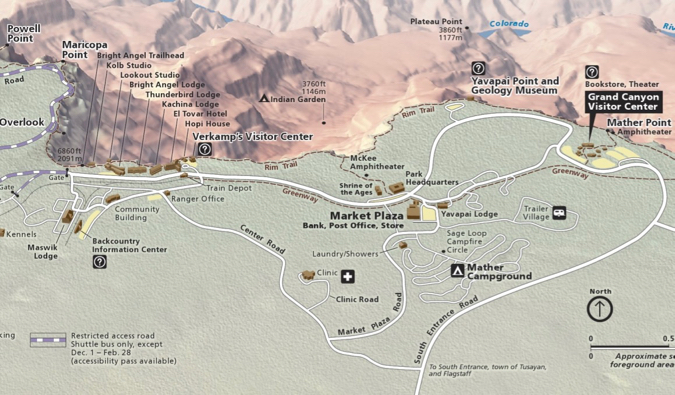 a map of the grand canyon