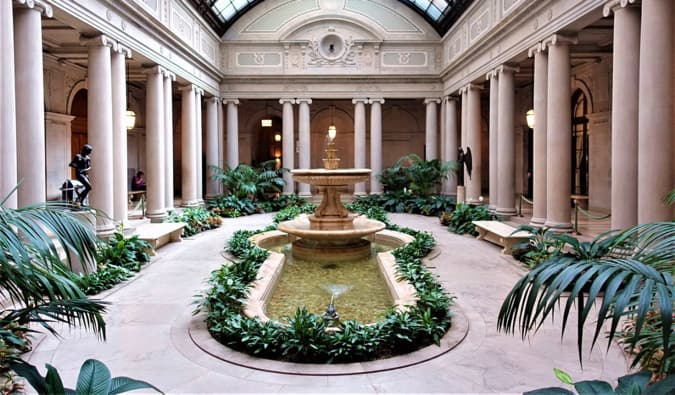 The calm and serene interior of The Frick Collection in New York City