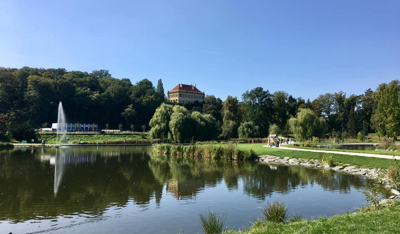 The relaxing Stromovka park in Prague, Czechia