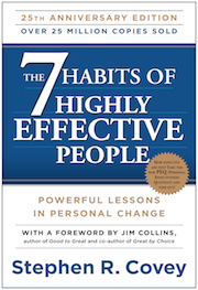 book cover of the 7 Habits of Highly Effective People by Stephen R. Covey