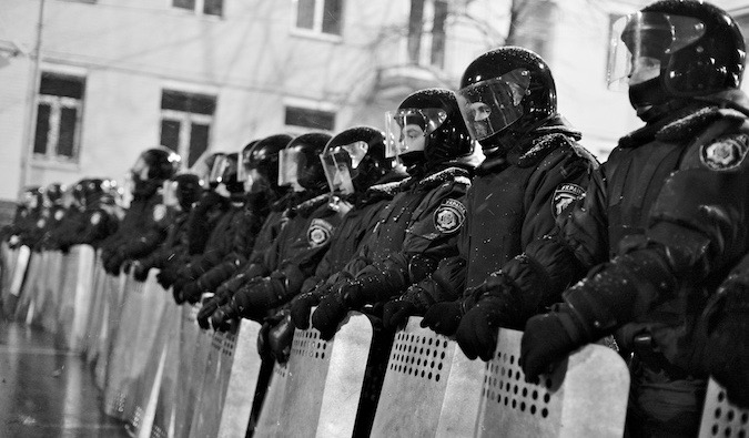 riot police in Europe