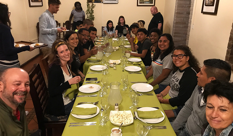 Excelsior students in Ecuador