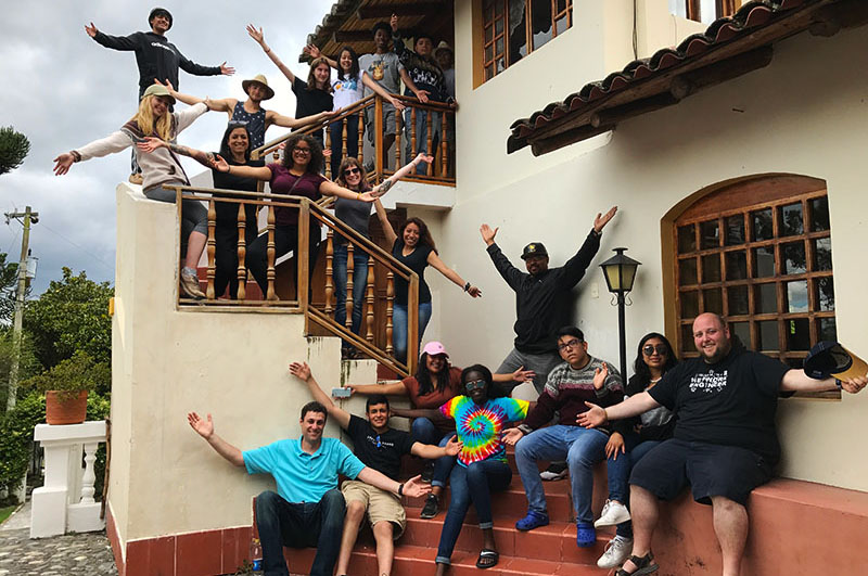 Excelsior Academy students in Ecuador